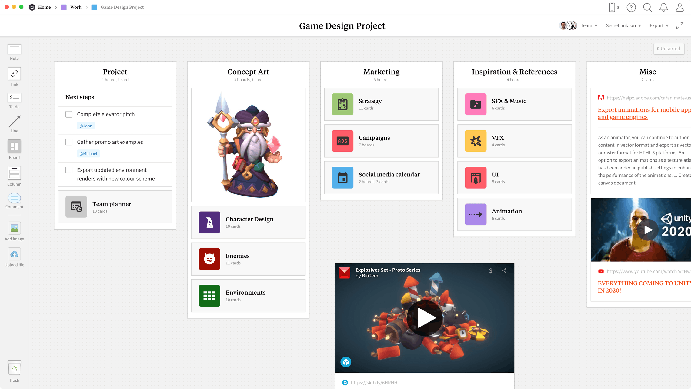 Game Design Document Online Template Example Milanote