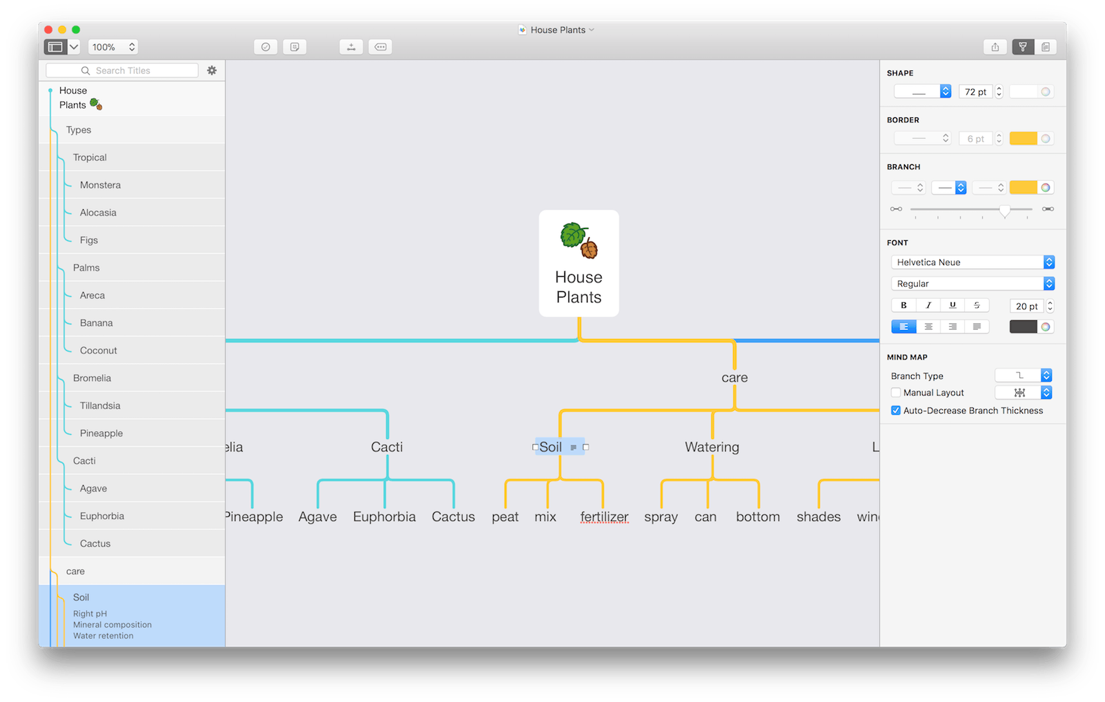 MindNode 5 on Mac