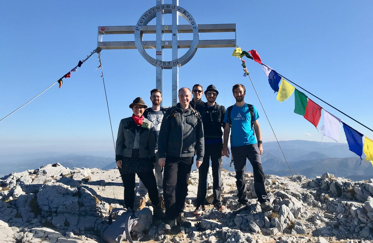 MindNode team on a peak in Austria