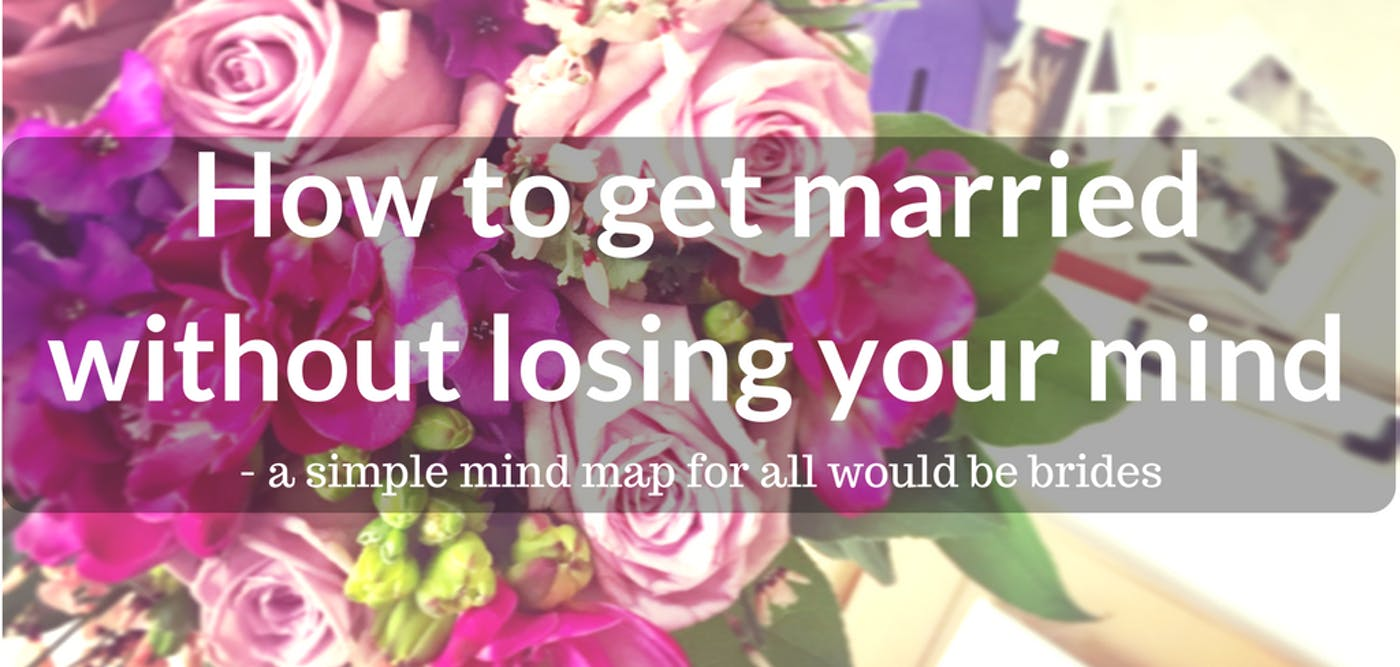 How to get married without losing your mind