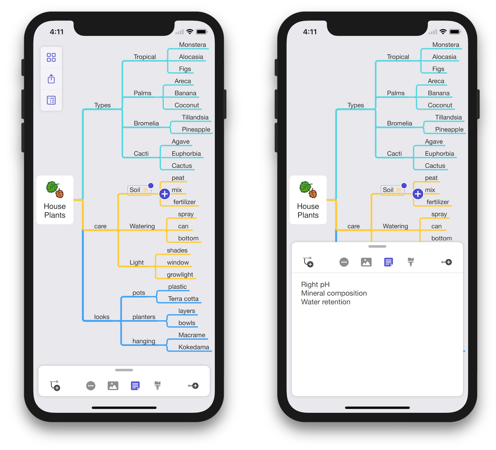 MindNode 5 for iOS on iPhone X