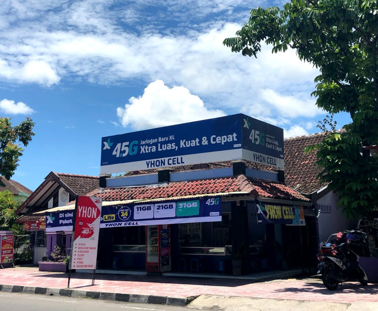 A telecom shop in Yogyakarta