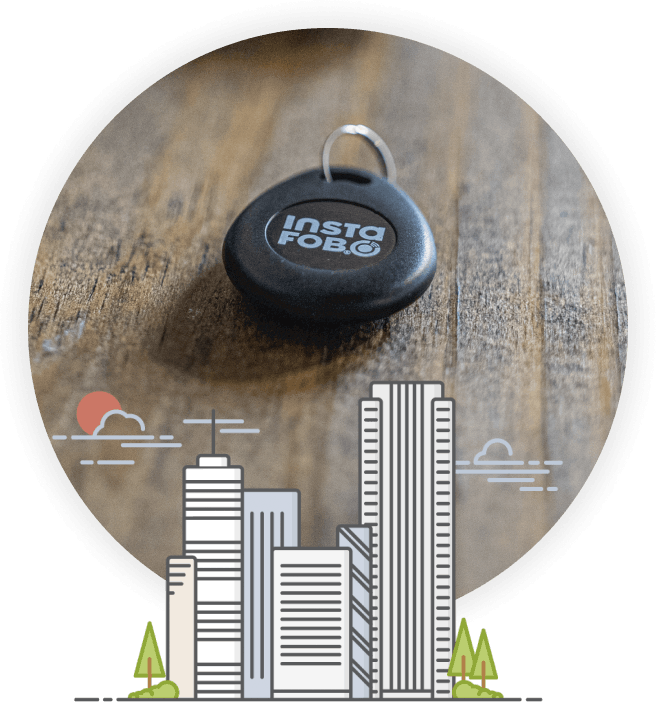 Securely and conveniently replace your apartment or office fob at a fraction of the cost and get back in the game.