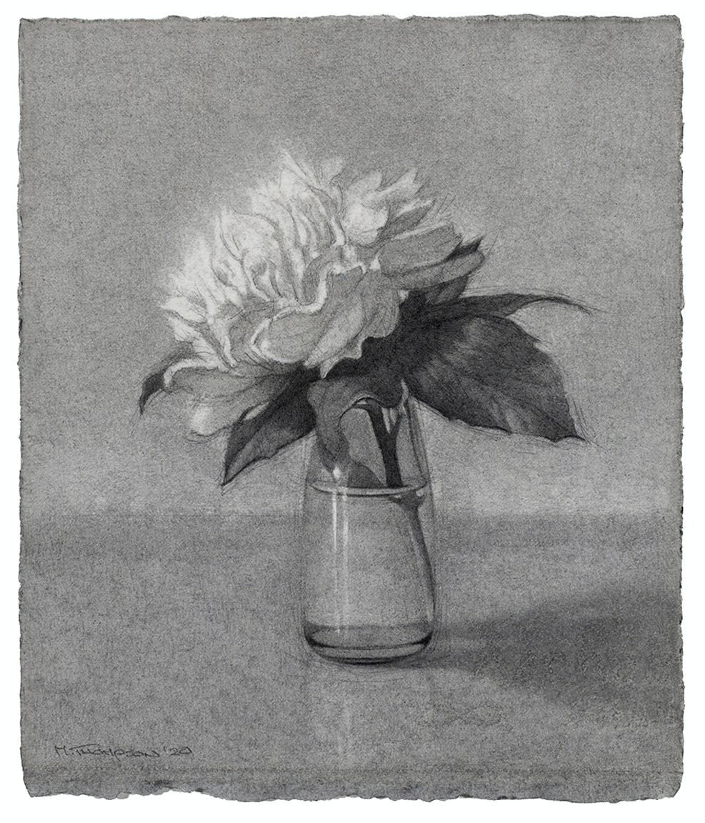 Flower on a Café Table by Michael Thompson