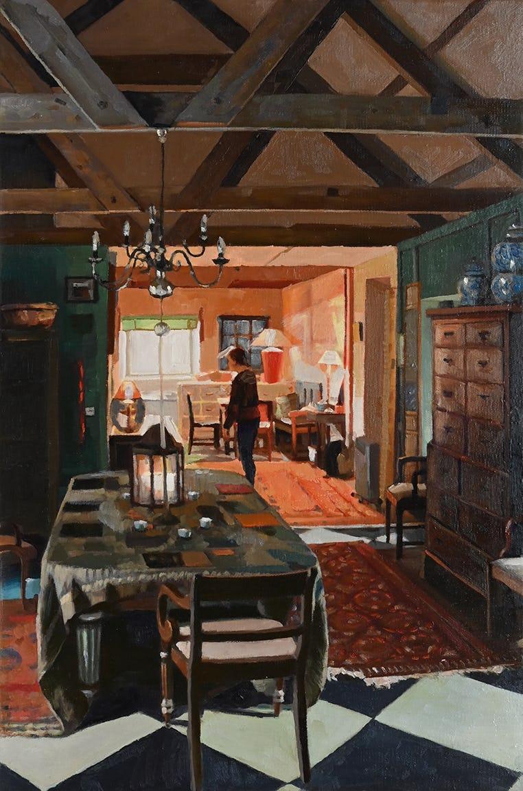 Erika in the Kitchen, Trereife by Simon Andrew