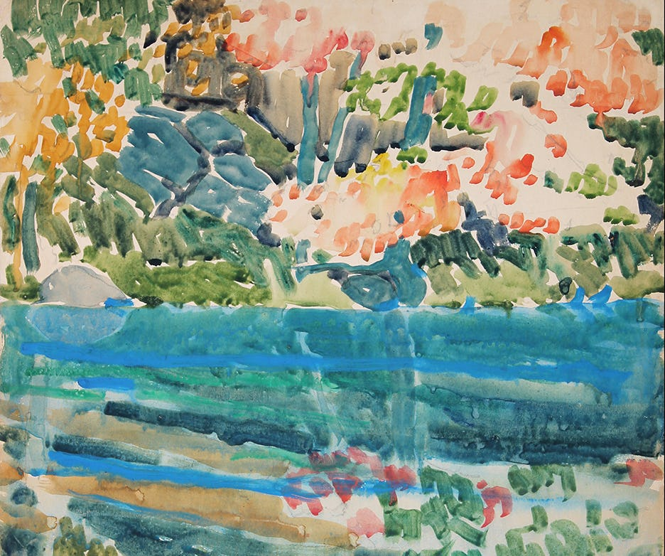 painting, watercolours, art, artist, art history, canadian history, canadian art, canadian artist, David Milne, Milne