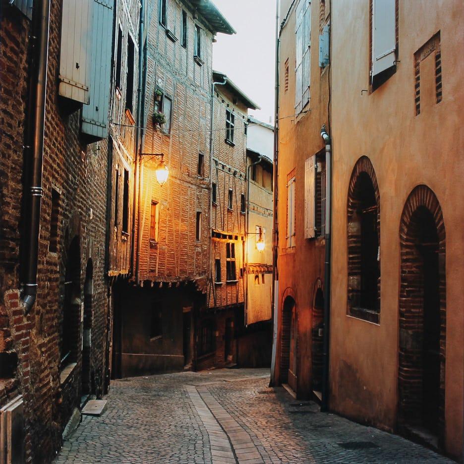 street at dawn by hugh martin