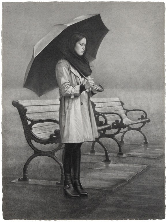 Rain in Saint James Park by Michael Thompson