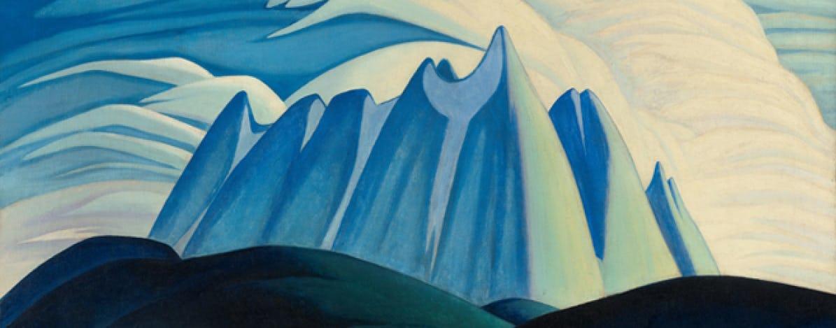 canadian art, art history, lawren harris, group of seven, toronto art gallery, painting,