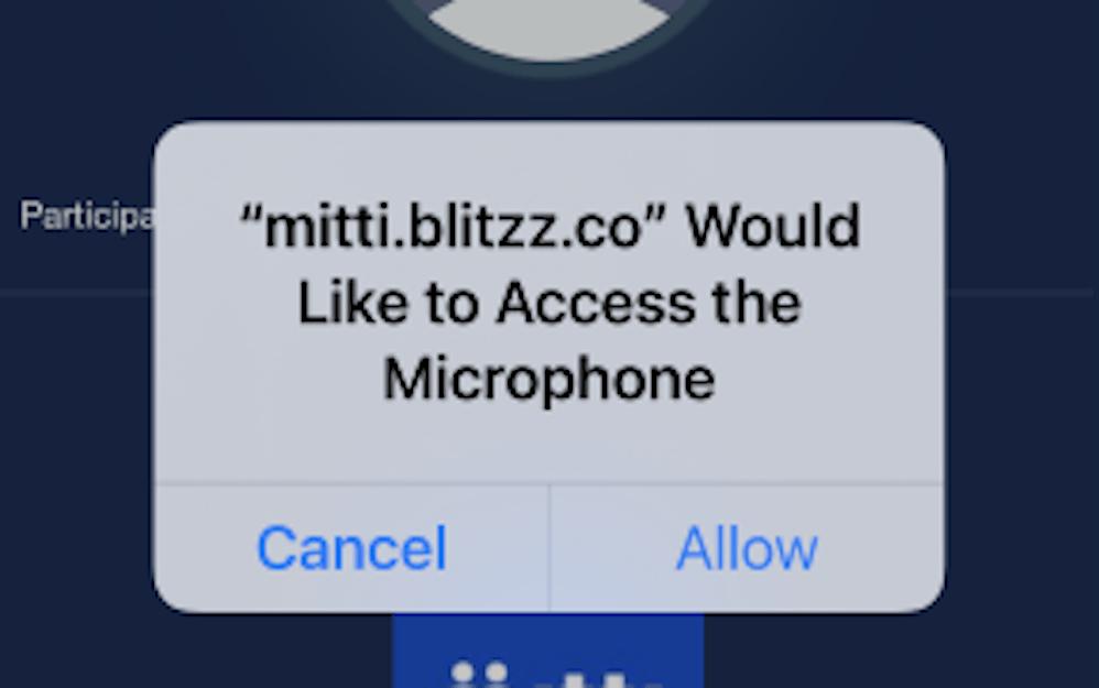 allow microphone access modal