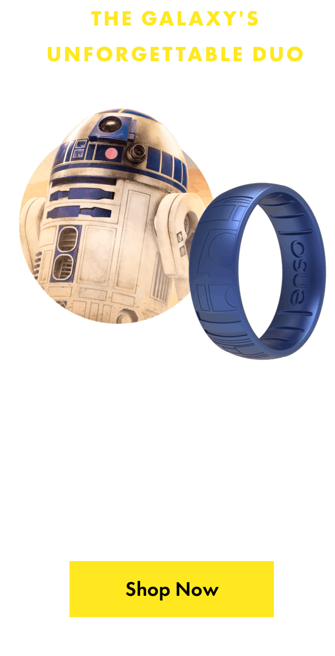 R2-D2™ ring. This ring, featuring R2-D2 art, will be your constant companion in all your galactic journeys. Click here to shop now.