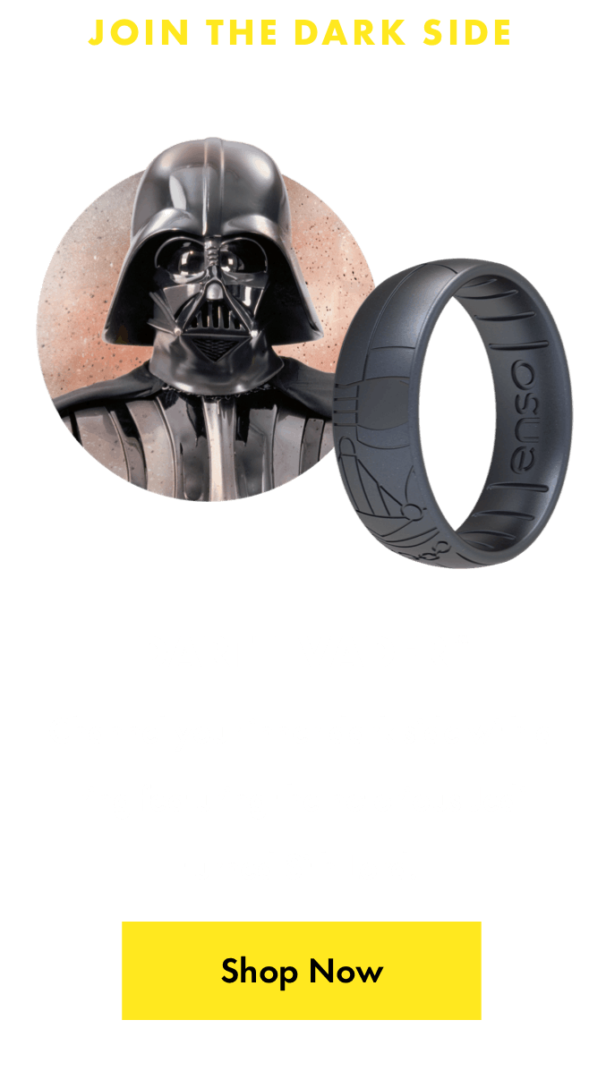 Darth Vader™ ring. Channel your inner dark side with a ring featuring the notorious Jedi turned Sith lord. Click here to shop now.