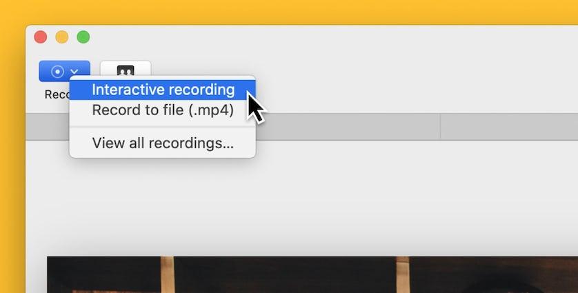 Screenshot of Record button on mmhmm