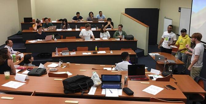 同志社グローバルビジネススクールの授業風景