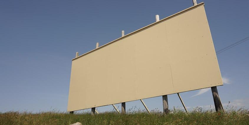 空白のビルボード