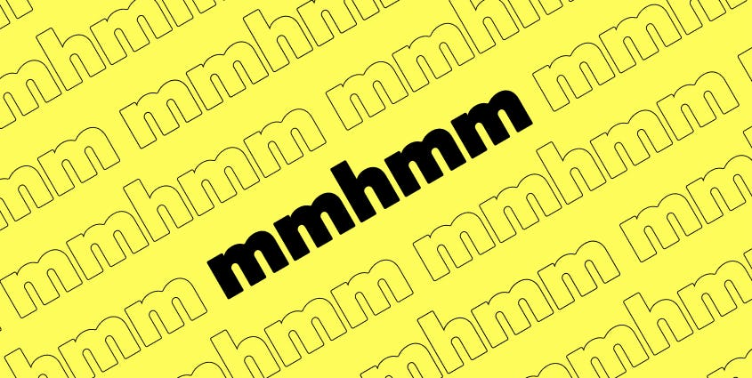 Illustration of mmhmm on a diagonal, repeated