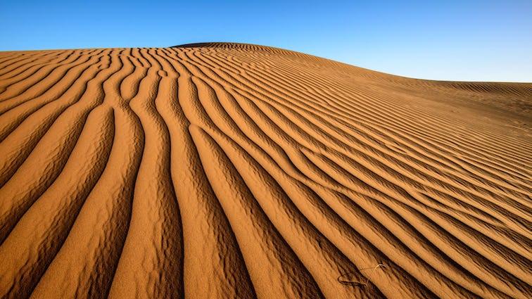 Sand in desert in Zagora province, Morocco