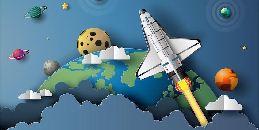 Space shuttle diorama