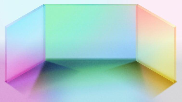 Illustration of rainbow prism shape