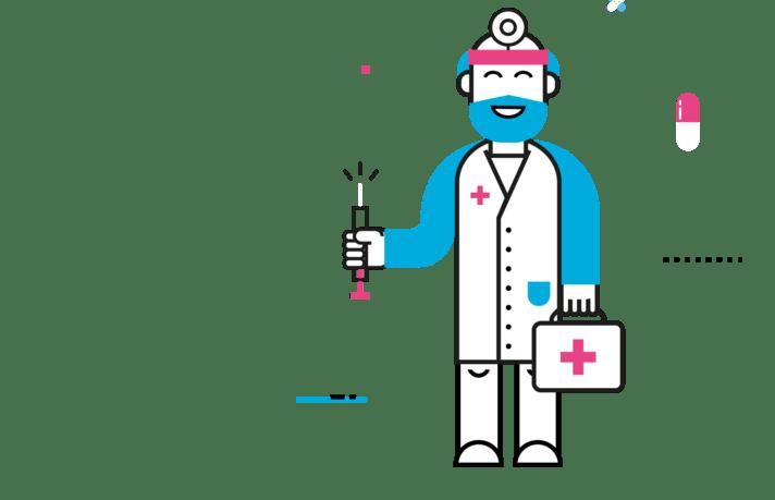 Personnage médecin MNT & VOUS