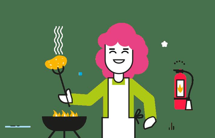 Illustration préparation barbecue
