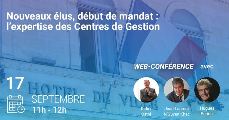 Conférence Weka MNT Nouveaux élus, début de mandat : l'expertise des centres de gestion. 17-09- 2020