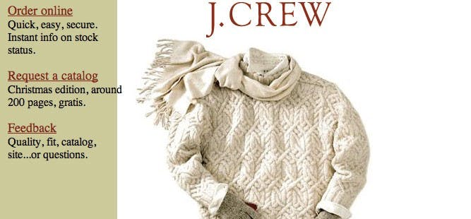 J. Crew c. 1996