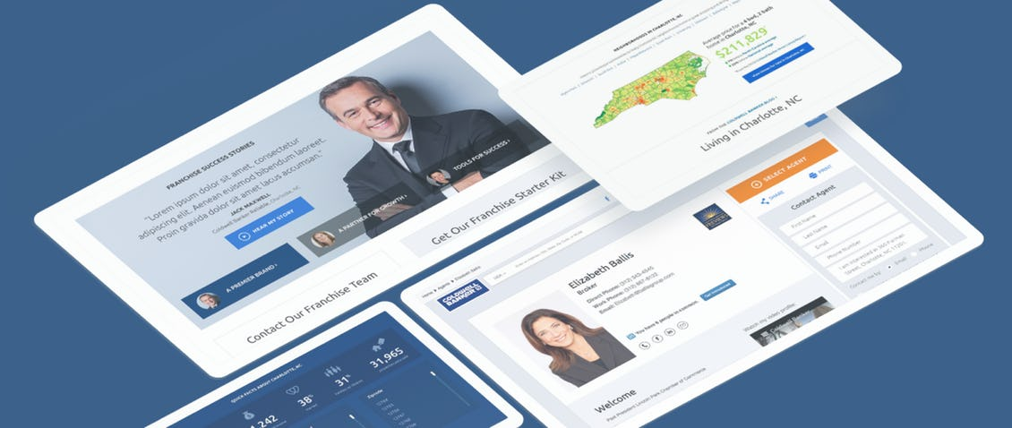 Coldewell Banker screens site
