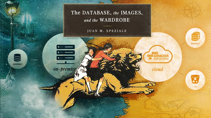 Illustration of the database, the images and the wardrobe