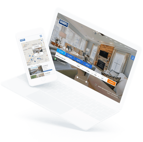 modus real estate coldwell banker site on a tablet