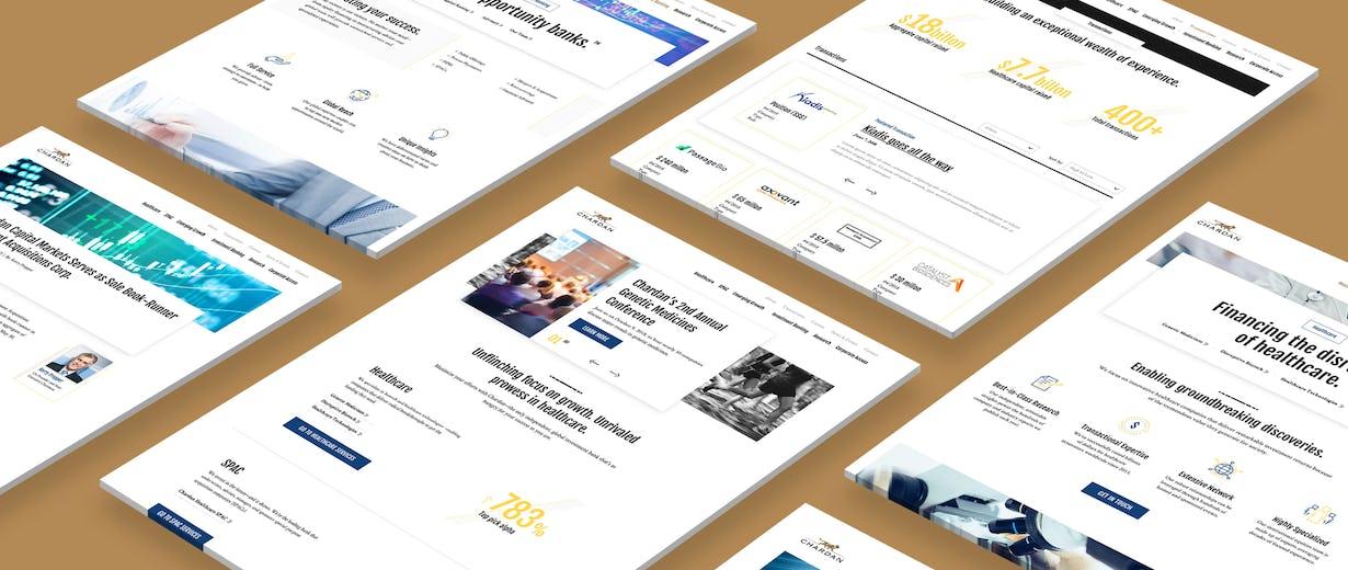 Chardan site screens by Modus