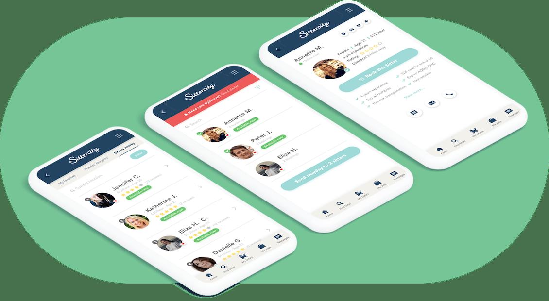 Siitercity screens site on three diferent phones