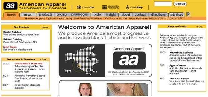 American Apparel c. 2001