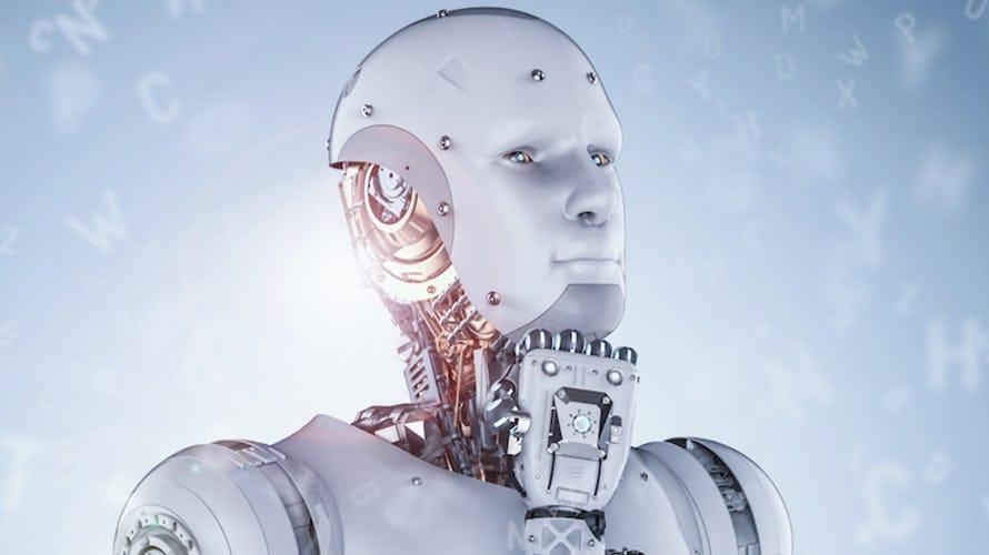 a robot thinking