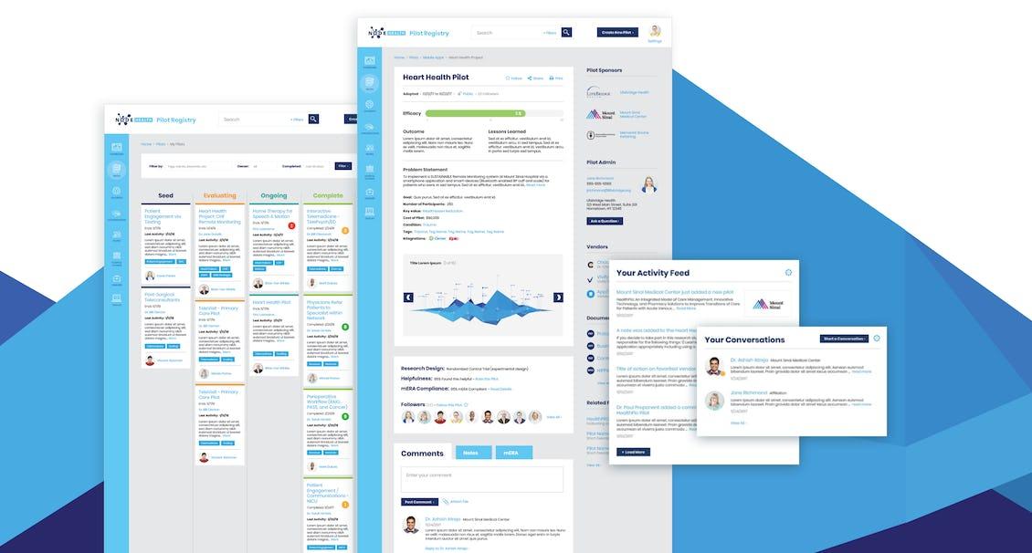 NODE site screens