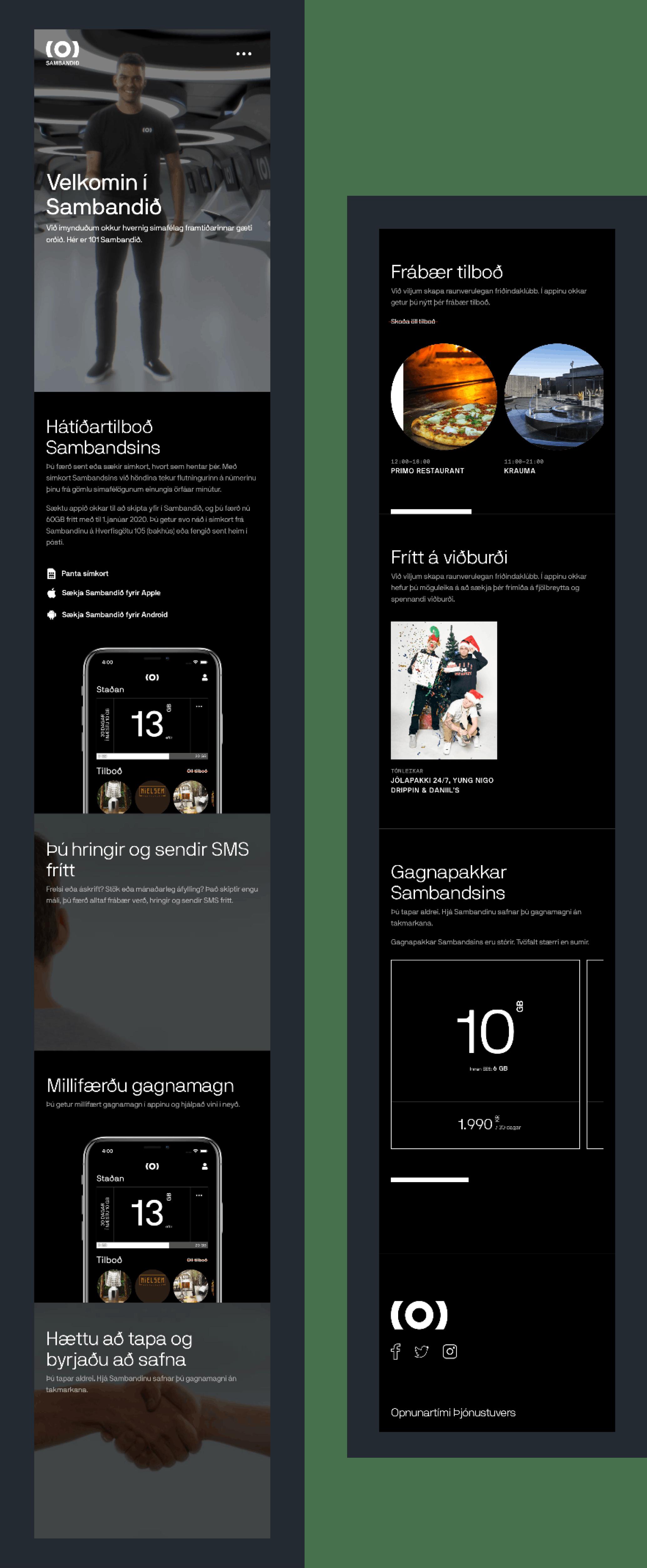 101 Sambandið | Website Image