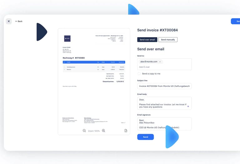 Invoice clients