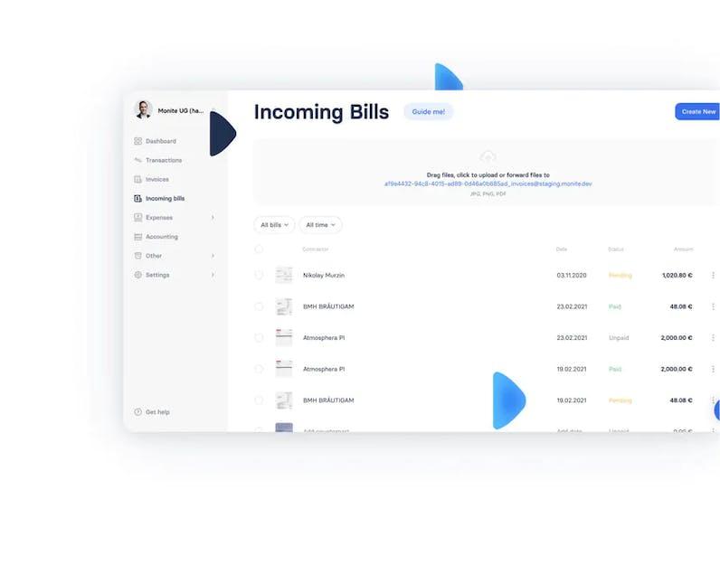 Incoming bills