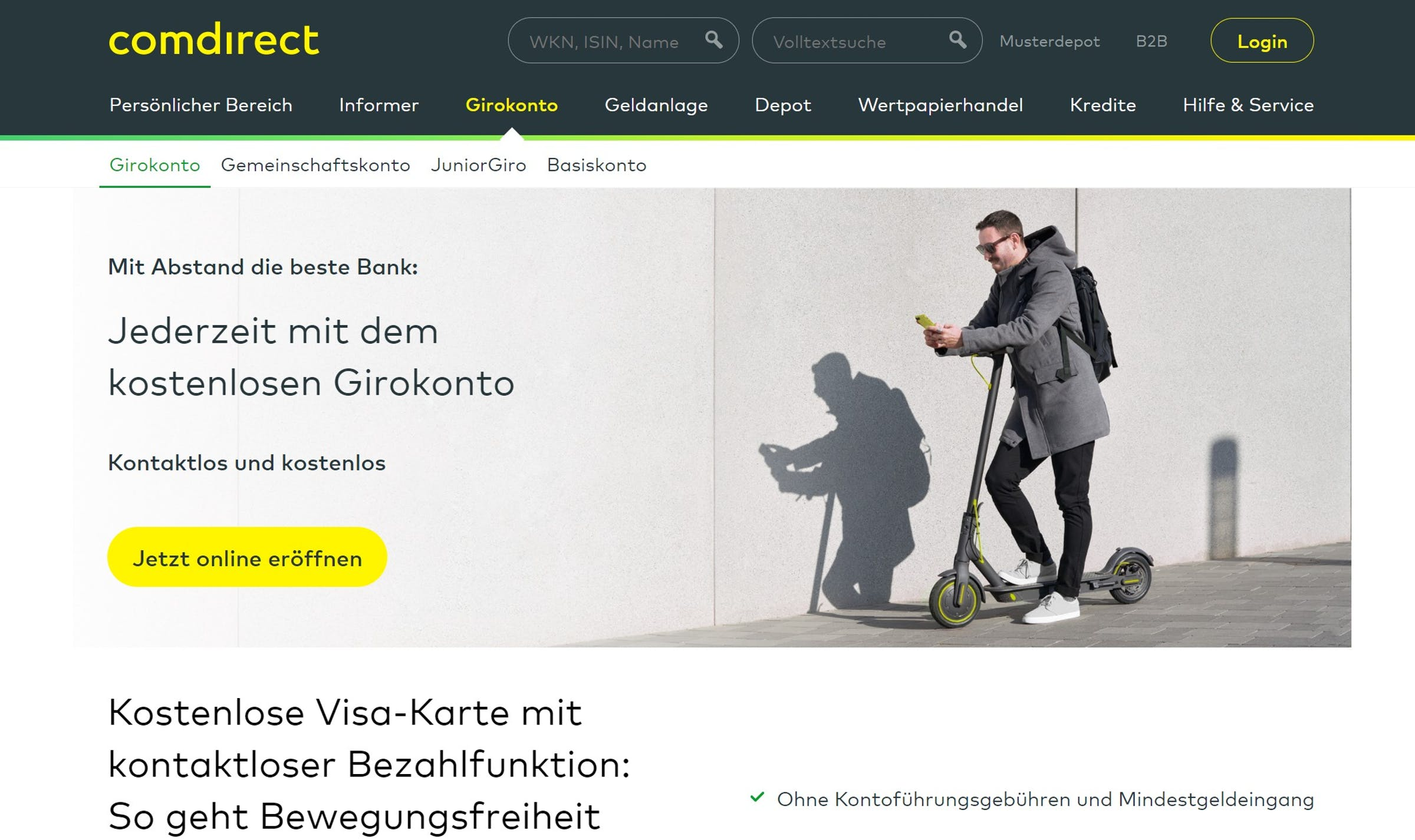 comdirect Girokonto Erfahrungen, Gebühren und Alternativen