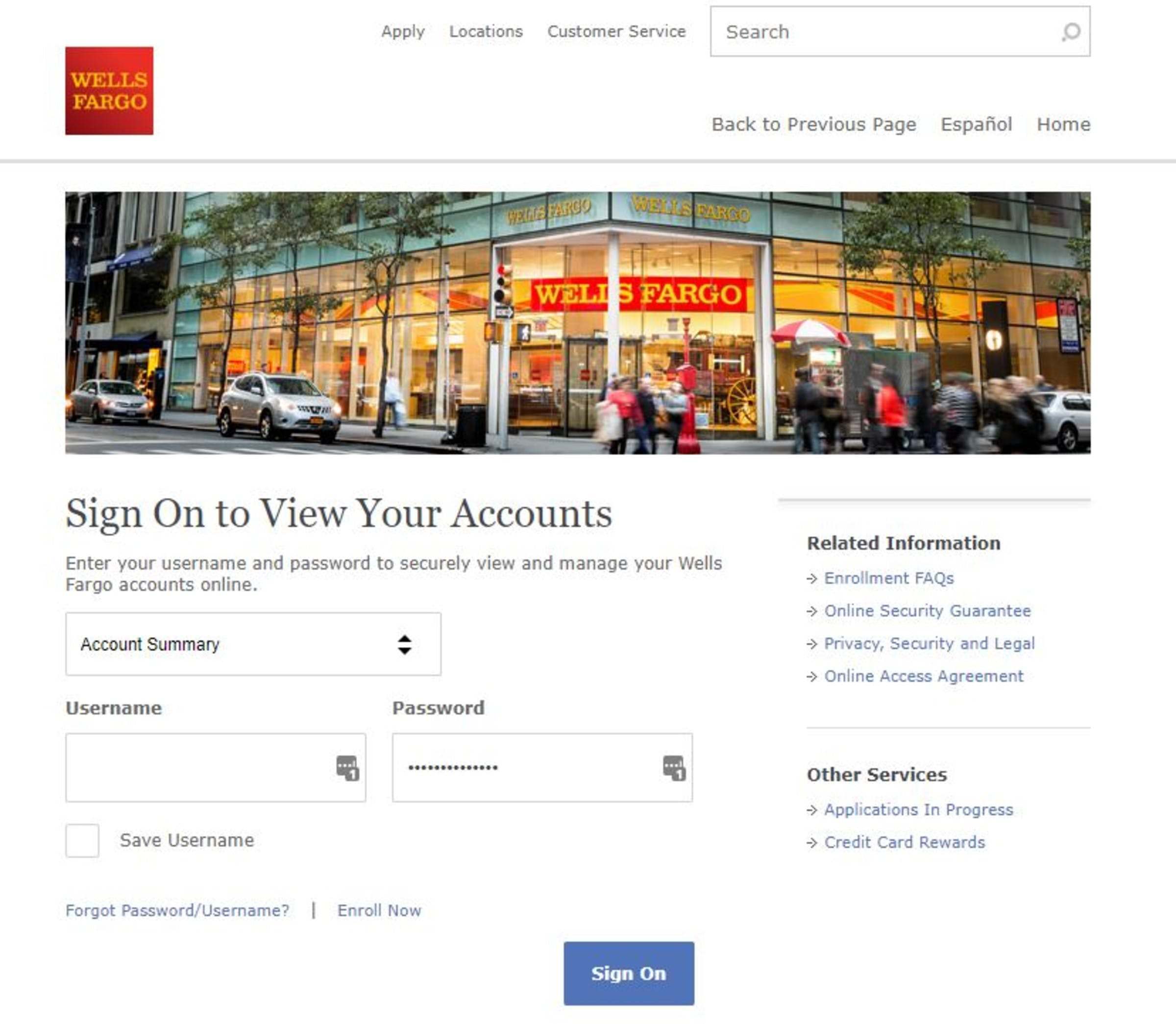Wells Fargo Foreign Currency Exchange, International Wire Transfer
