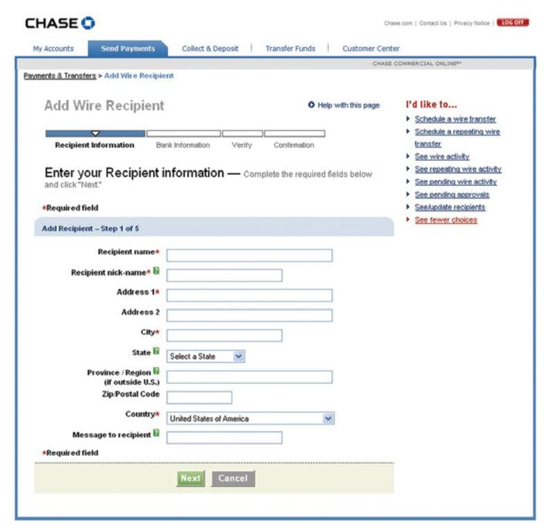 Chase International Wire Transfer, International Credit ... on