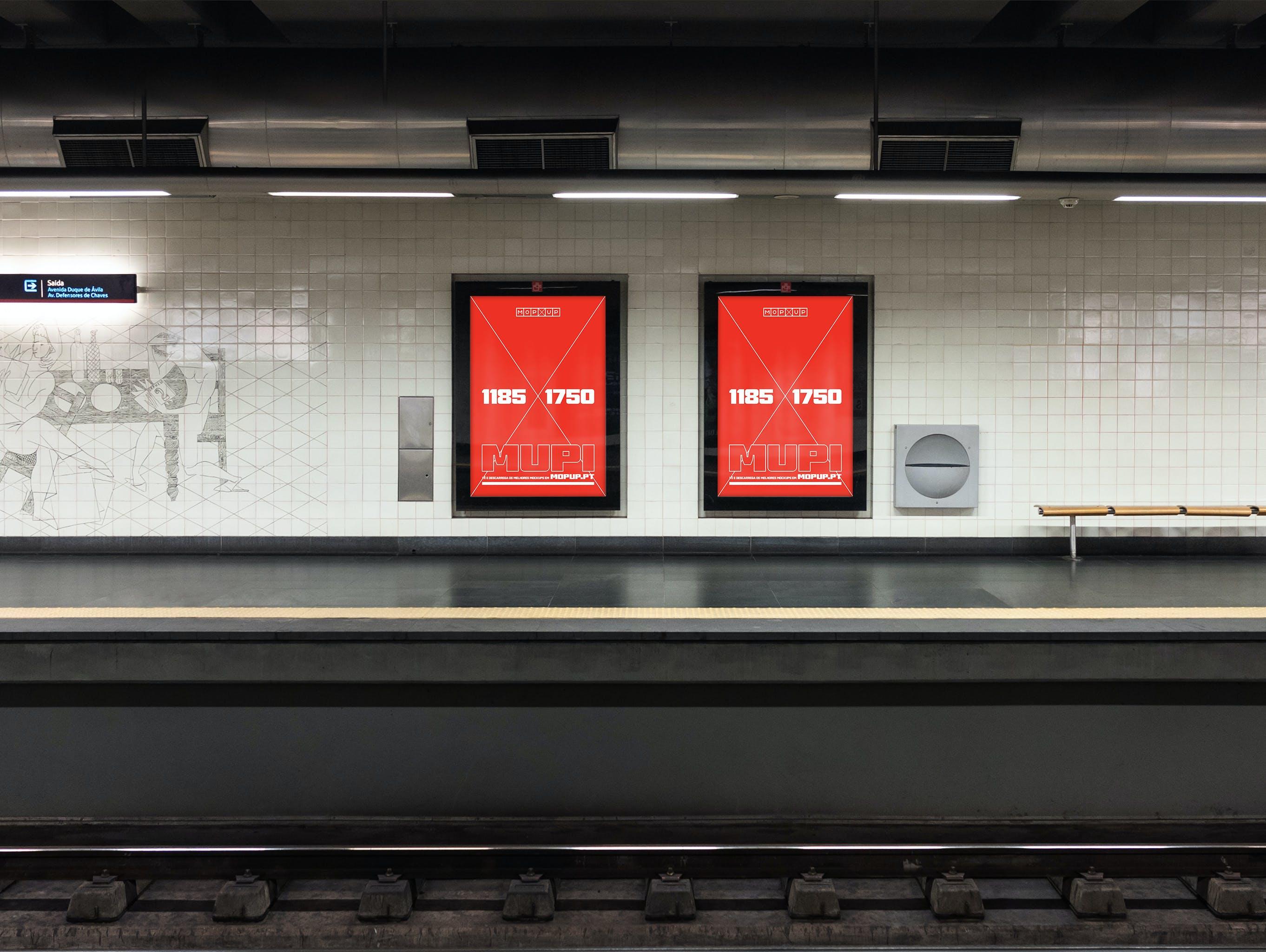 MOPUP - Mupi Metro Saldanha - Mockup