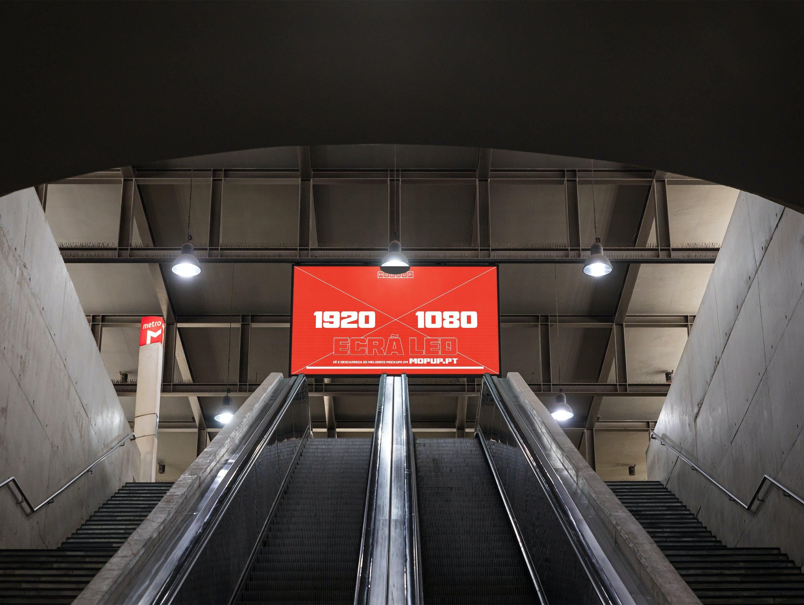 MOPUP - Ecrã Led Metro Cais do Sodré - Mockup