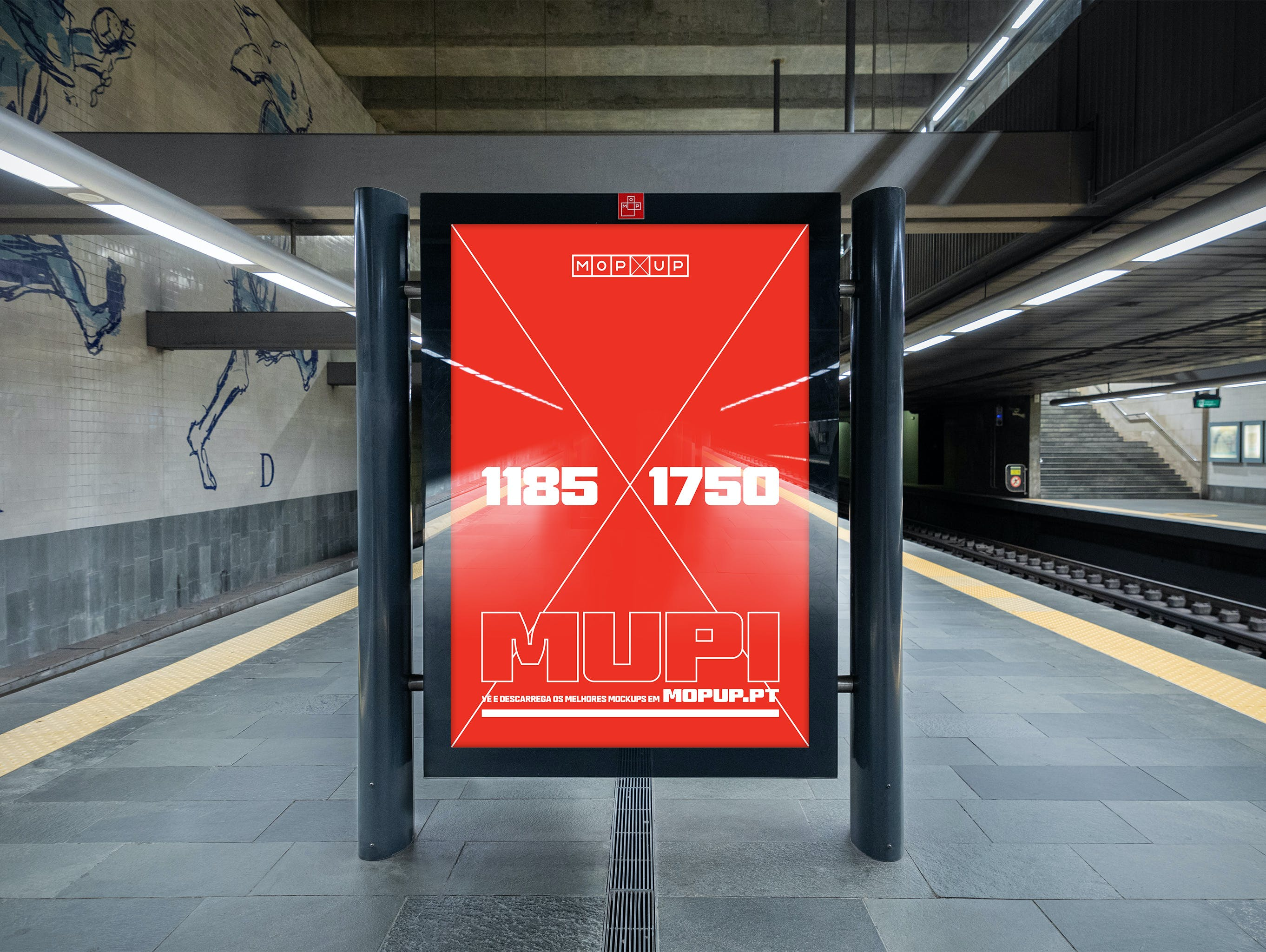 MOPUP - Mupi Metro Cais do Sodré 2 - Mockup