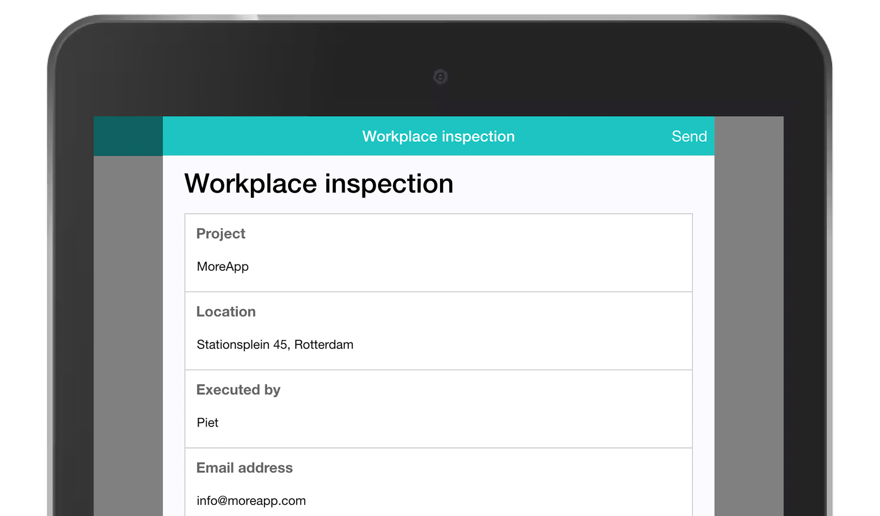 MoreApp Workplace inspection Form