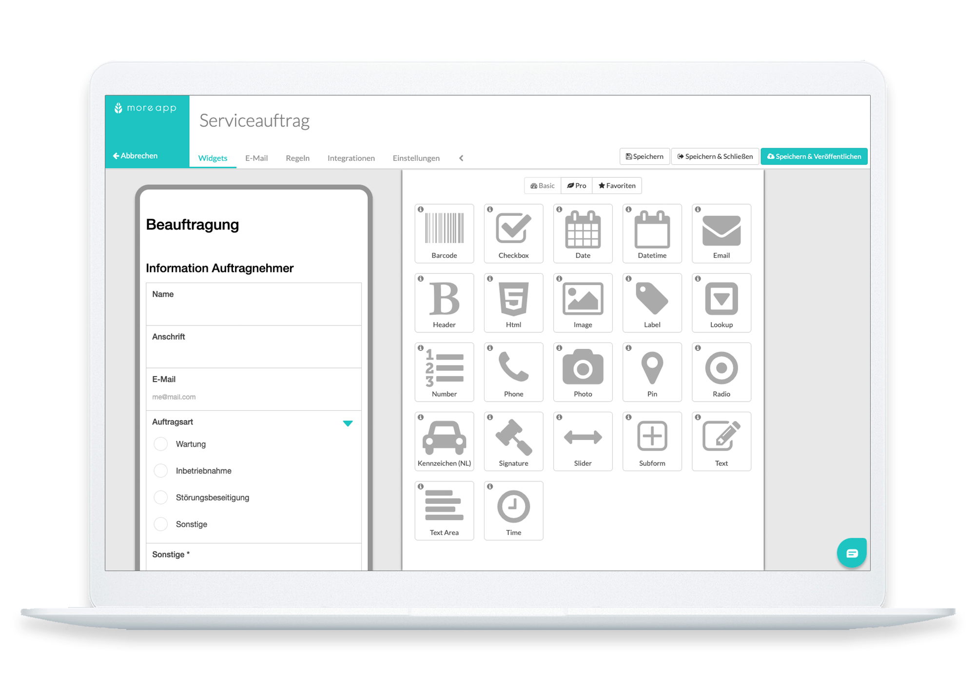 MoreApp Form Builder DE_Serviceauftrag