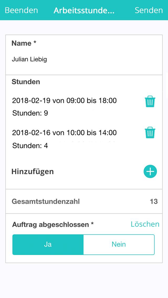 Zeitregistrierungs App