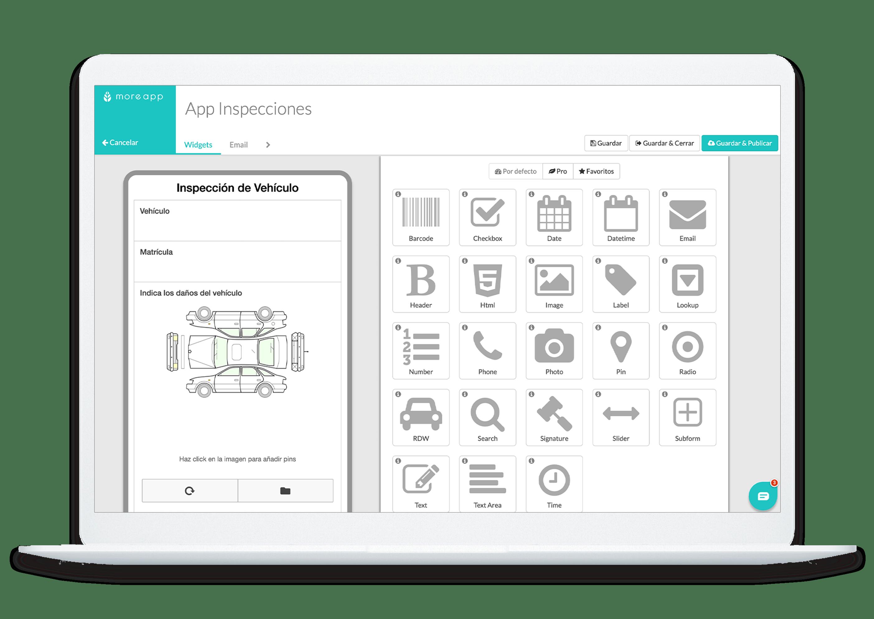 Formulario de Inspección Generador de Formularios MoreApp