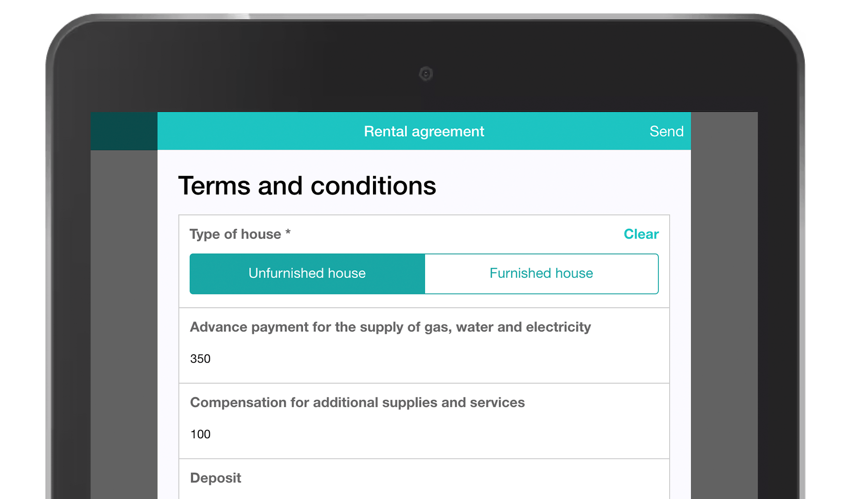 MoreApp Rental agreement form