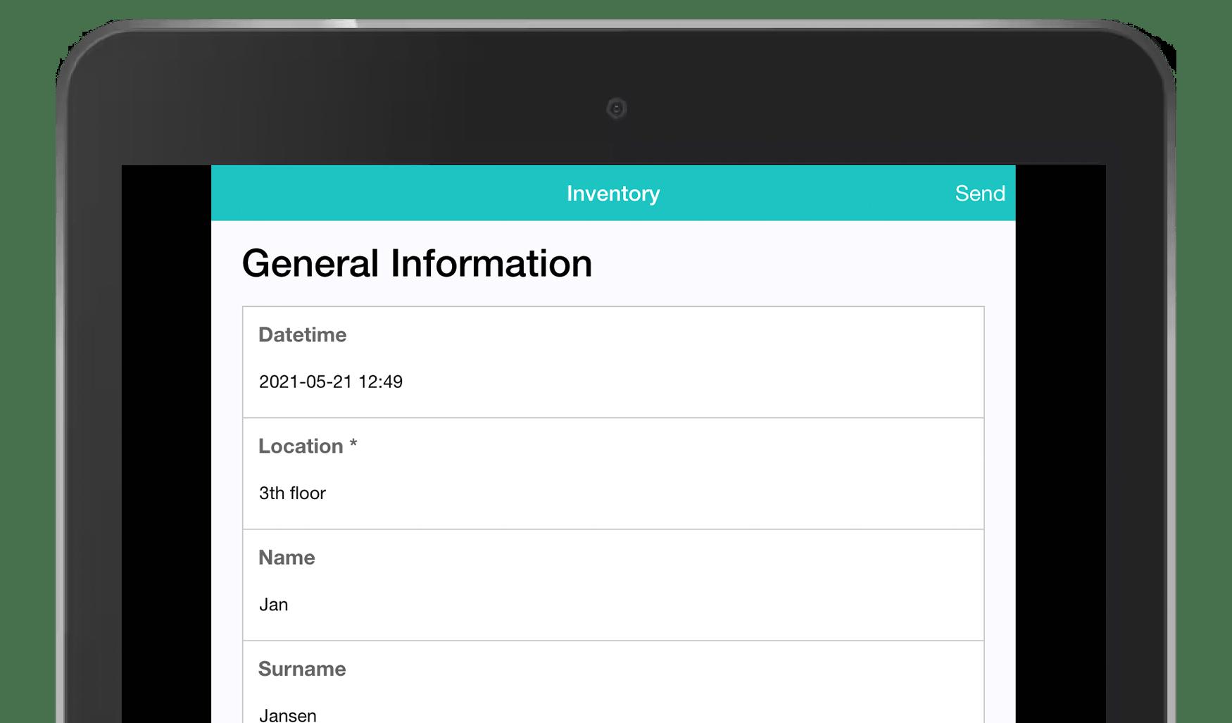 MoreApp Inventory form